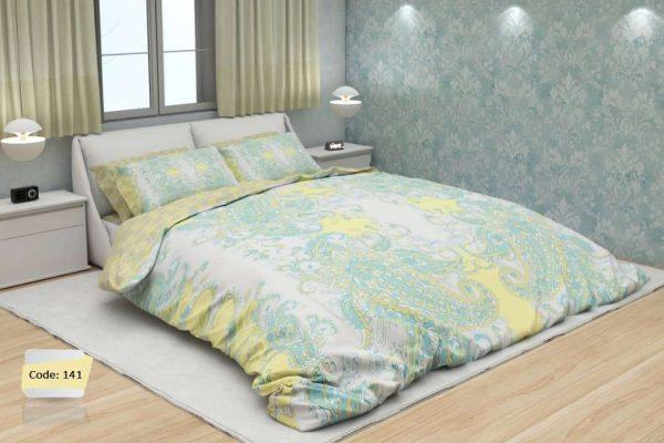 سرویس روتختی دونفره ابرو باد زرد و سبز | کالای خواب بدروم