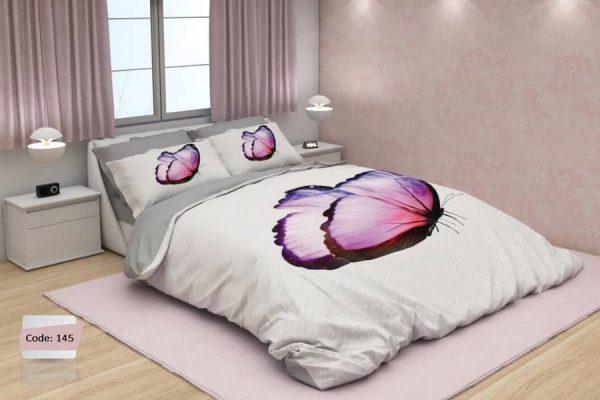 سرویس روتختی یک نفره پروانه یاسی | کالای خواب بدروم