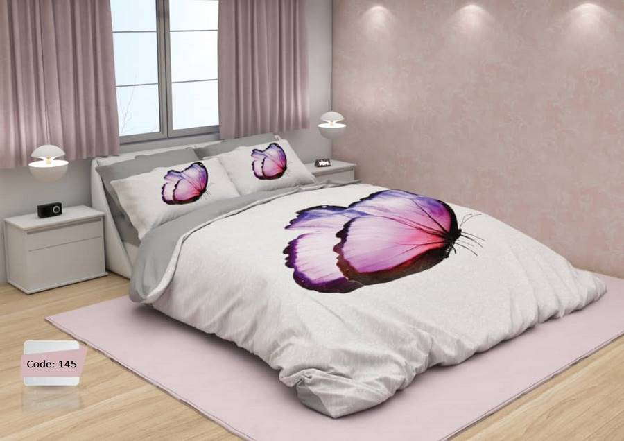 سرویس روتختی یک نفره پروانه یاسی   کالای خواب بدروم