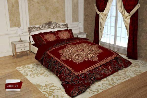 سرویس روتختی یک نفره سنتی فرش ایرانی قرمز | کالای خواب بدروم