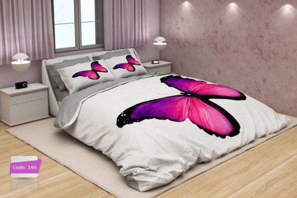 سرویس روتختی دونفره پروانه بنفش | کالای خواب بدروم