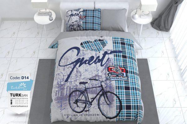 سرویس روتختی یک نفره مدرن دوچرخه   کالای خواب بدروم
