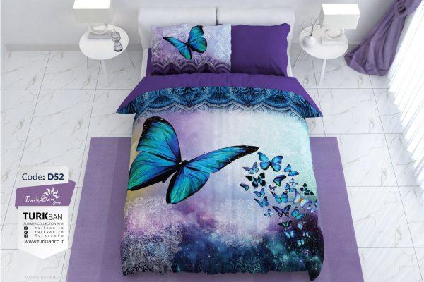سرویس روتختی یک نفره پروانه بنفش | کالای خواب بدروم