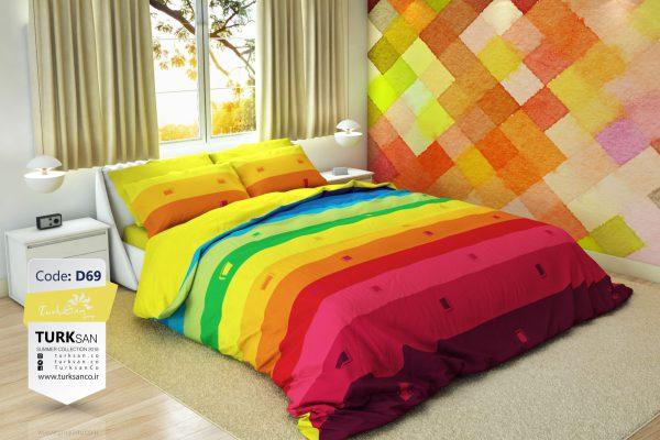 سرویس روتختی دونفره مدرن رنگارنگ | کالای خواب بدروم