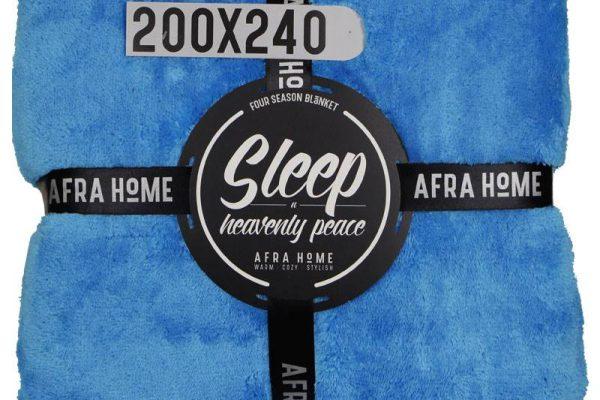 پتو افرا دو نفره آبی فیروزه ای | کالای خواب بدروم