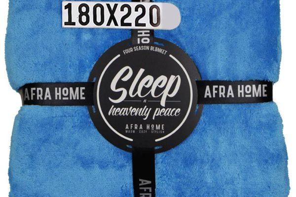 پتو افرا یک نفره آبی فیروزه ای | کالای خواب بدروم