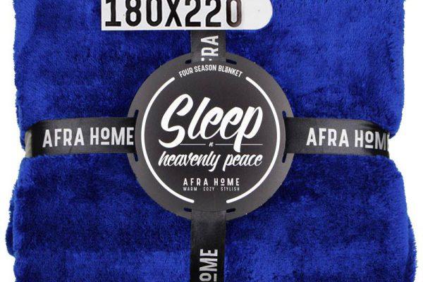 پتو افرا یک نفره آبی شالی | کالای خواب بدروم