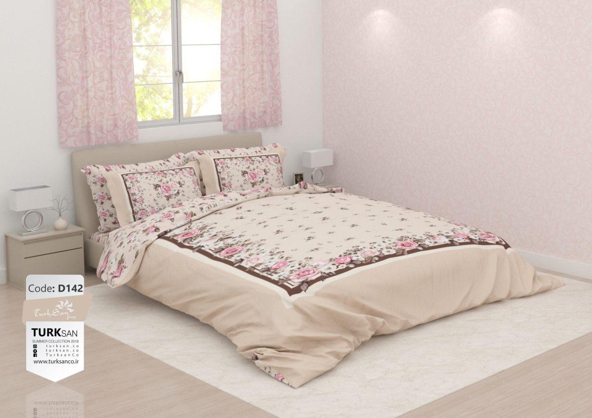 سرویس روتختی یک نفره کلاسیک گلدار صورتی | کالای خواب بدروم