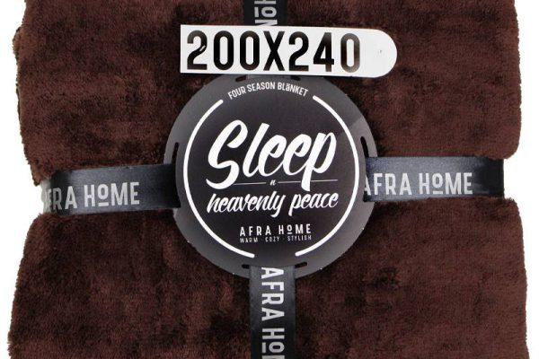 پتو افرا دونفره قهوه ای | کالای خواب بدروم