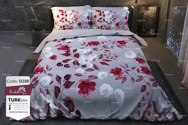 سرویس روتختی دونفره گل قرمز و سفید | کالای خواب بدروم