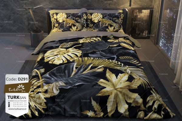 سرویس روتختی یک نفره طرح برگ طلایی | کالای خواب بدروم