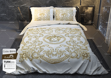 سرویس روتختی دونفره ورساچه طلایی | کالای خواب بدروم