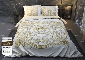 سرویس روتختی یک نفره ورساچه طلایی | کالای خواب بدروم