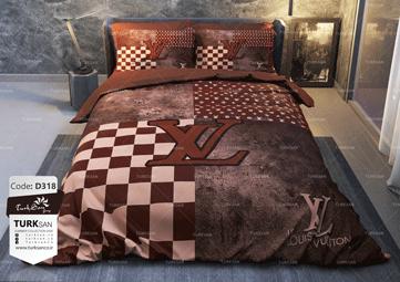 سرویس روتختی دونفره لویی ویتون شطرنجی | کالای خواب بدروم