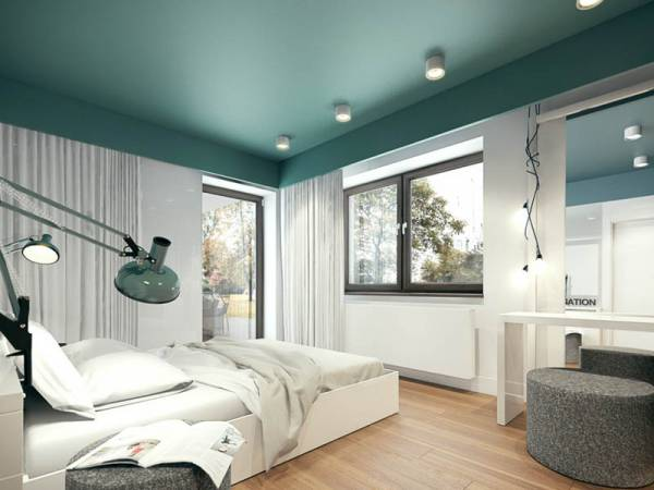 رنگ کردن سقف اتاق خواب ایده ای شیک | کالای خواب بدروم