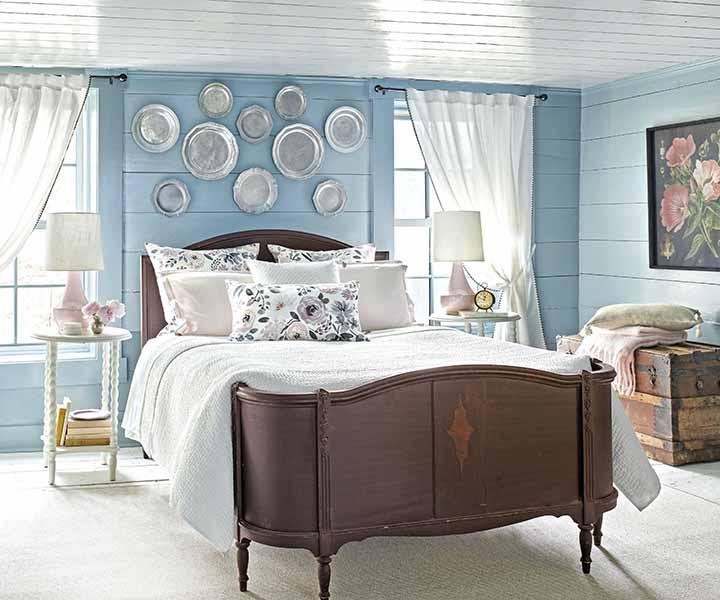 سرویس خواب سفید و قهوه ای : همه پسند ترین رنگ روتختی برای تخت سفید   کالای خواب بدروم
