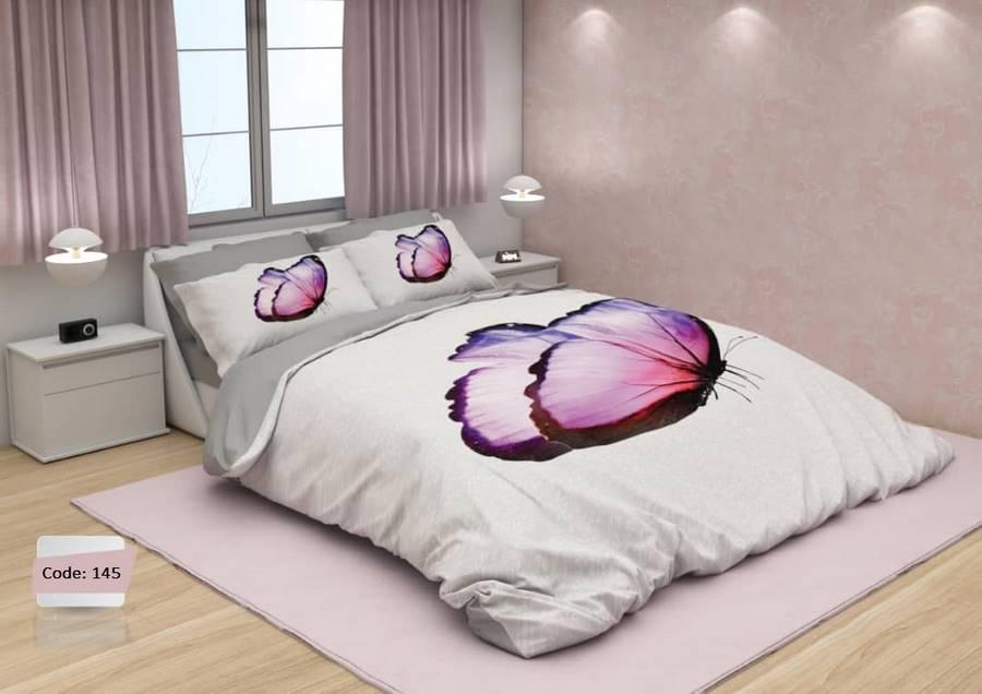 سرویس روتختی دو نفره پروانه یاسی   کالای خواب بدروم