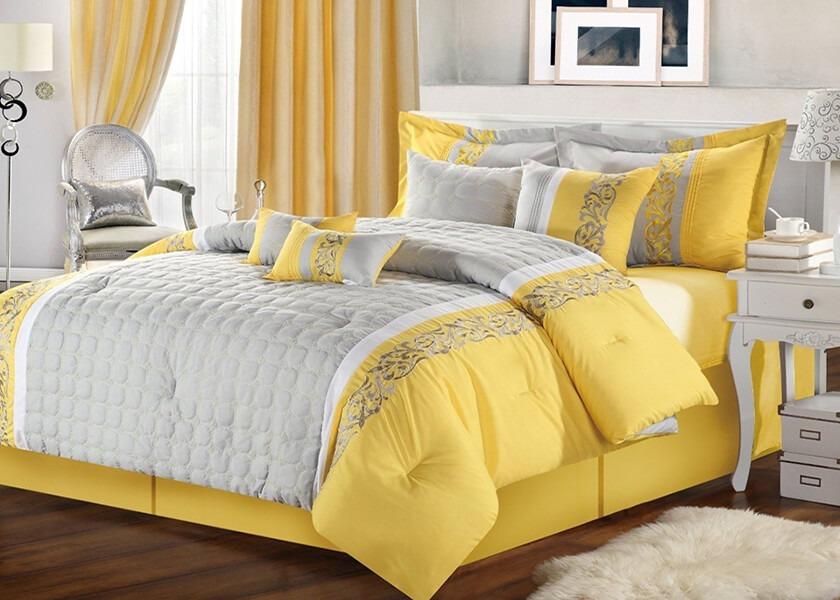 زرد، خاکستری و سفید   کالای خواب بدروم