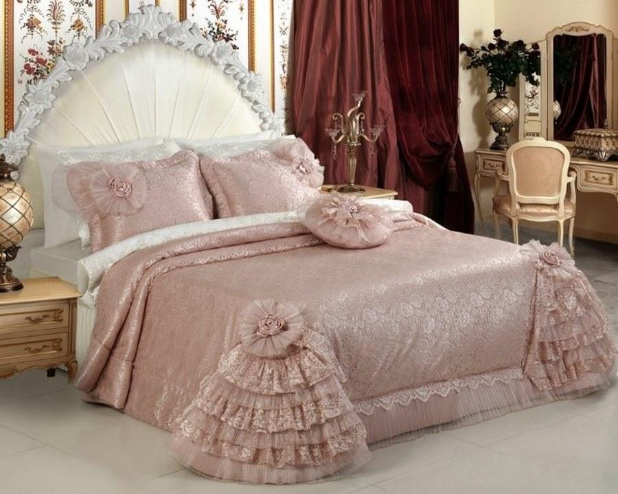 مدل روتختی ساتن ابریشم - مدل های جذاب روتختی عروس | کالای خواب بدروم