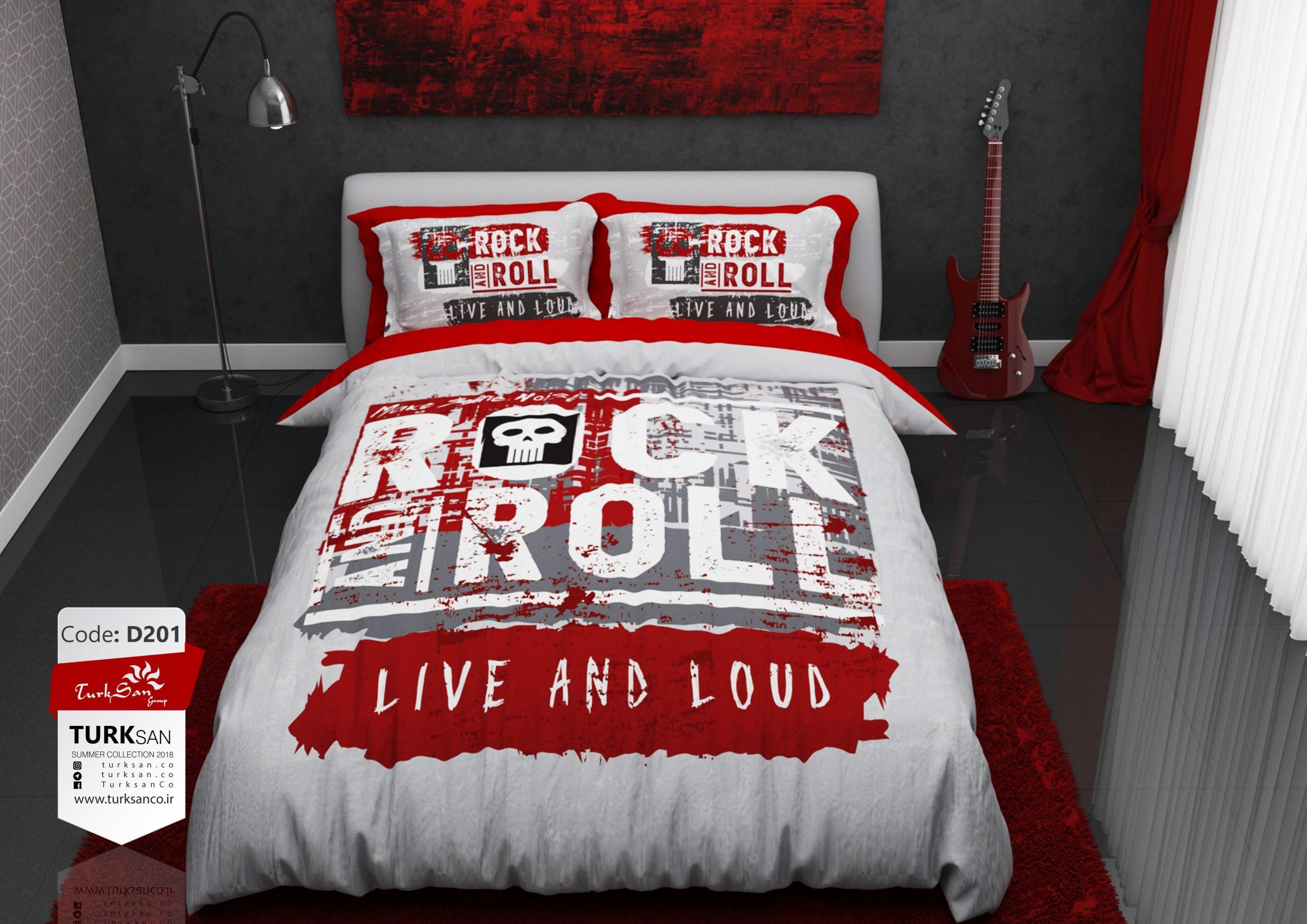 سرویس روتختی دونفره راک اند رول قرمز   کالای خواب بدروم