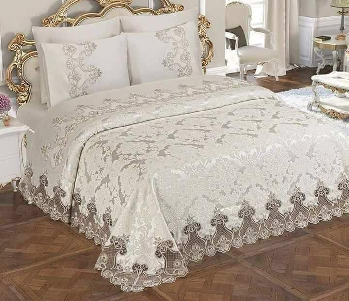 مدل روتختی گیپور عروس - مدل های جذاب روتختی عروس | کالای خواب بدروم