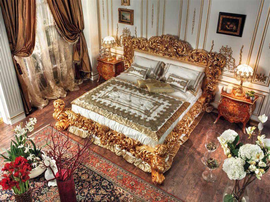 تخت طلایی با روتختی سفید - روتختی مناسب برای تخت طلایی | کالای خواب بدروم