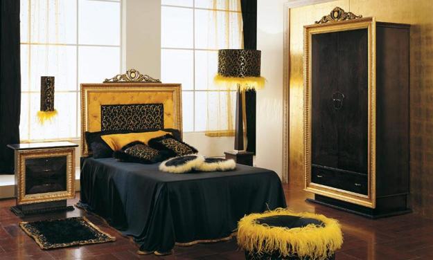 مدل مشکی طلایی - روتختی مناسب برای تخت طلایی | کالای خواب بدروم