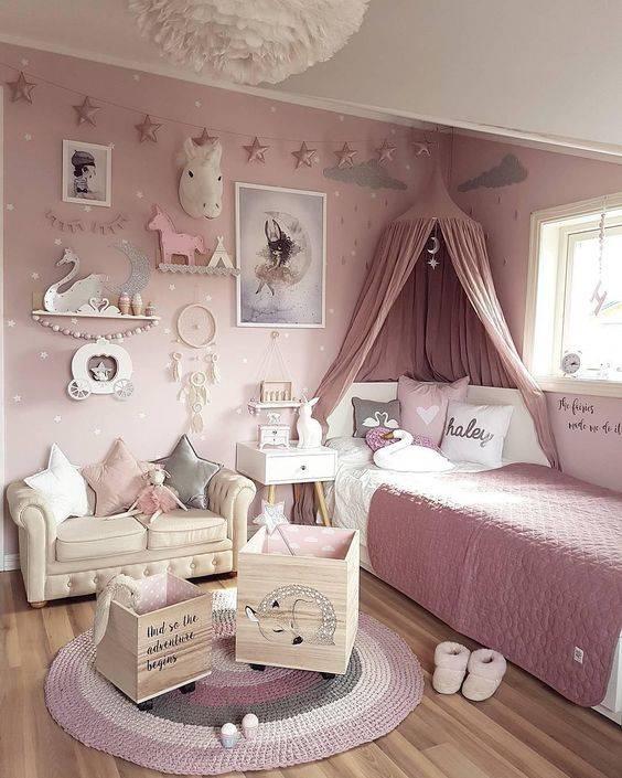 دکوراسیون اتاق خواب های دخترانه با رنگ صورتی | کالای خواب بدروم