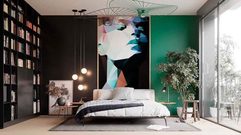 ایجاد کنتراست فوق العاده لوکس با رنگ سیاه | کالای خواب بدروم