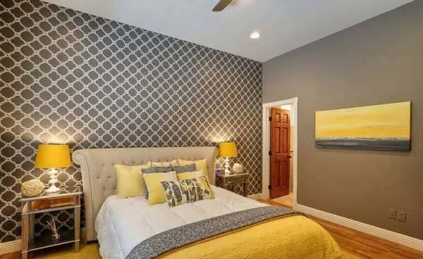 طوسی و زرد روتختی مناسب  تخت طوسی | کالای خواب بدروم